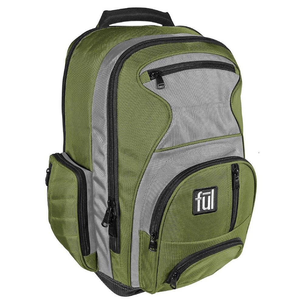 "Image of ""FUL 18"""" Free Fallin"""" Backpack - Green"""