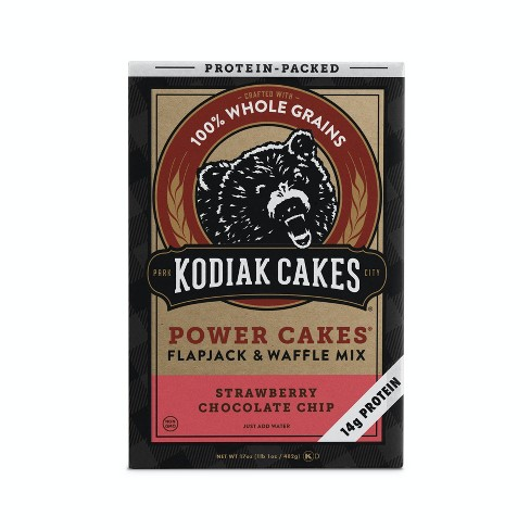 Kodiak Cakes Power Cakes Strawberry Dark Chocolate Pancake Mix - 18oz - image 1 of 4