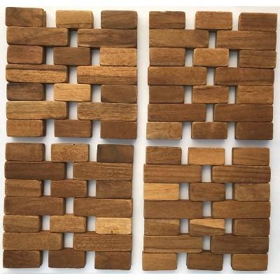 4pk Teak Wood Coasters - Hip-o Modern Living
