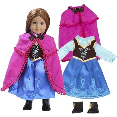 Dress Along Dolly Anna Frozen Inspired Outfit for American Girl Doll