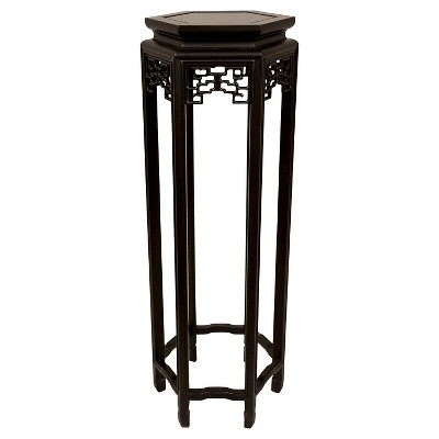 "Hexagon Plant Stand 36"" - Oriental Furniture"