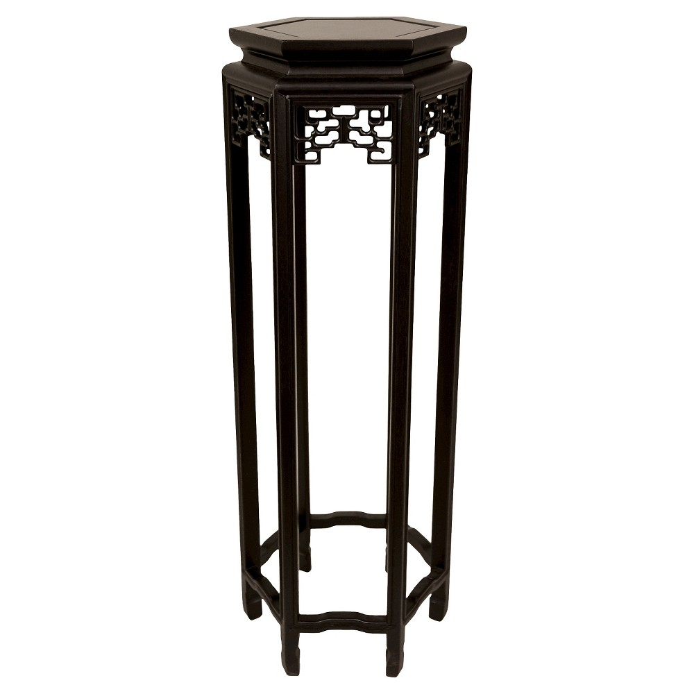 "Image of ""Hexagon Plant Stand 36"""" - Oriental Furniture, Black"""