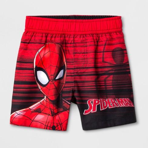 0222c9cca79ab Toddler Boys' Marvel Spider-Man Swim Trunks - Red : Target