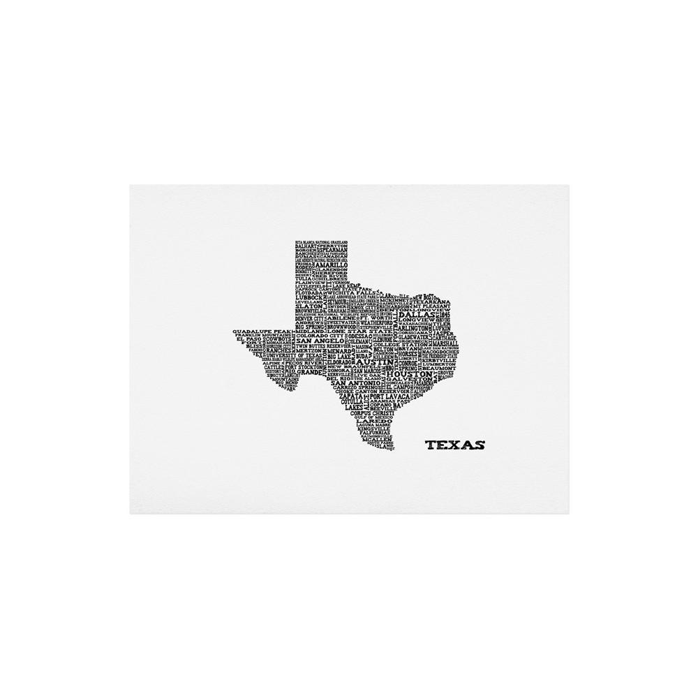 Restudio Designs Texas Map Art Print 11