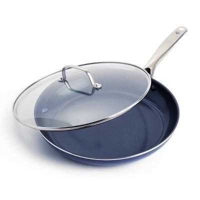 """Blue Diamond 12"""" Ceramic Non-Stick Skillet with Cover"""