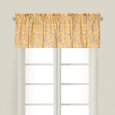 C&F Home Berkeley Yellow Cotton Valance Window Treatment