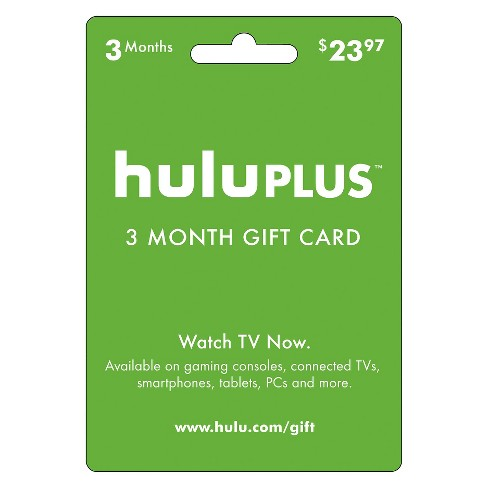 Hulu Plus 3-Month Gift Card: Redeemable for 3 Months of service - image 1 of 1