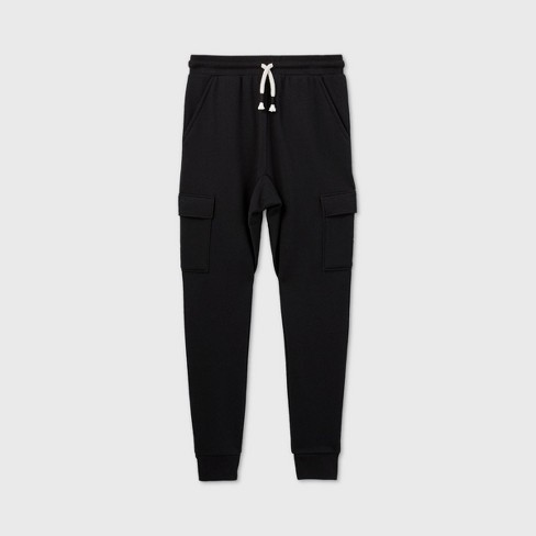 Boys' Cargo Jogger Pants - art class™ Black - image 1 of 2