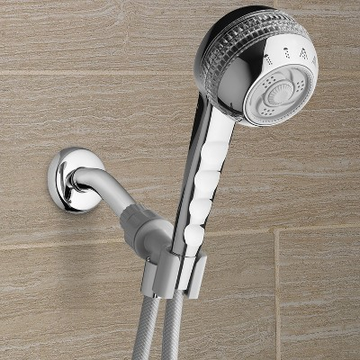 Original Shower Massage Hand Held Shower Head 4-mode Chrome- Waterpik, Silver