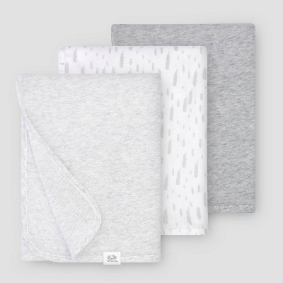 Fruit of the Loom Baby 3pk Breathable Blankets - Gray One Size