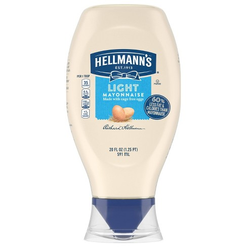 Hellmann's Light Mayonnaise Squeeze - 20oz - image 1 of 5