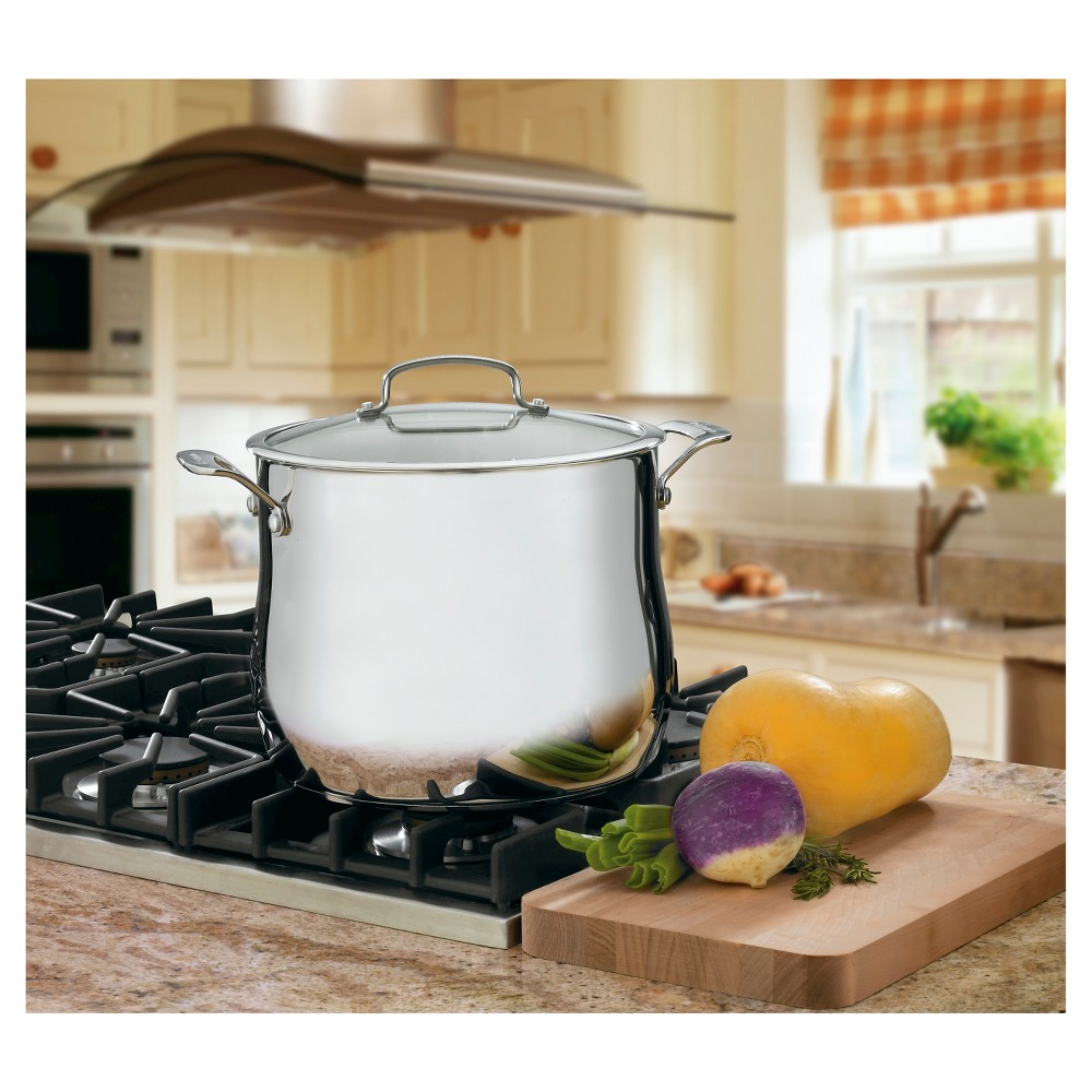Image of Cuisinart Contour Stainless Steel 12 quart Stockpot w/cover - 466-26