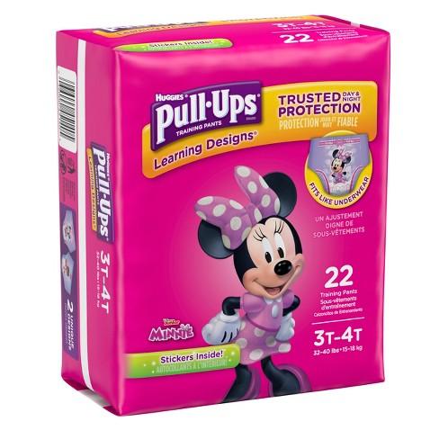 f4555bdae1 Huggies Pull-Ups Girls Learning Designs Training Pants Jumbo Pack (Select  Size)
