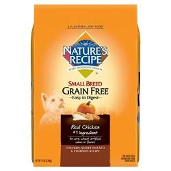 Nature's Recipe Small Breed Grain Free (Chicken Sweet Potato & Pumpkin) - Dry Dog Food - 12lb