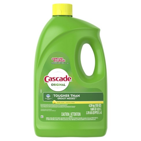 Cascade Dishwasher Detergent Gel - Lemon Scent - 155oz - image 1 of 2