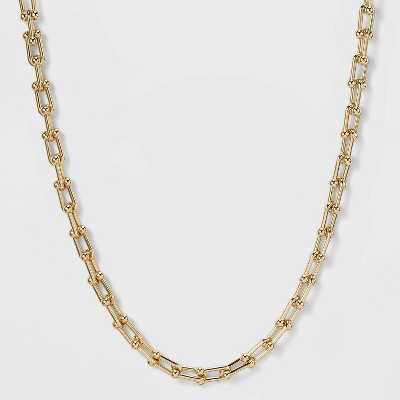 SUGARFIX by BaubleBar Gold Link Chain Collar Necklace - Gold