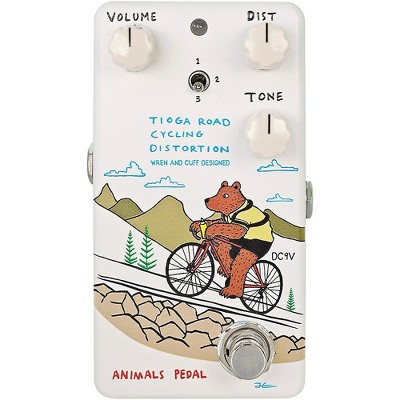 Animals Pedal Tioga Road Cycling Distortion V2 Effects Pedal White