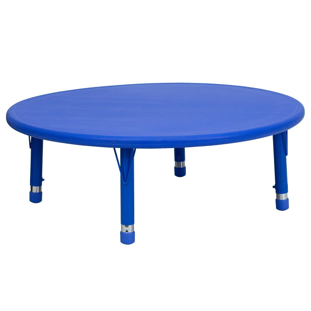 Image of Flash Furniture Round Activity Table Blue - Belnick