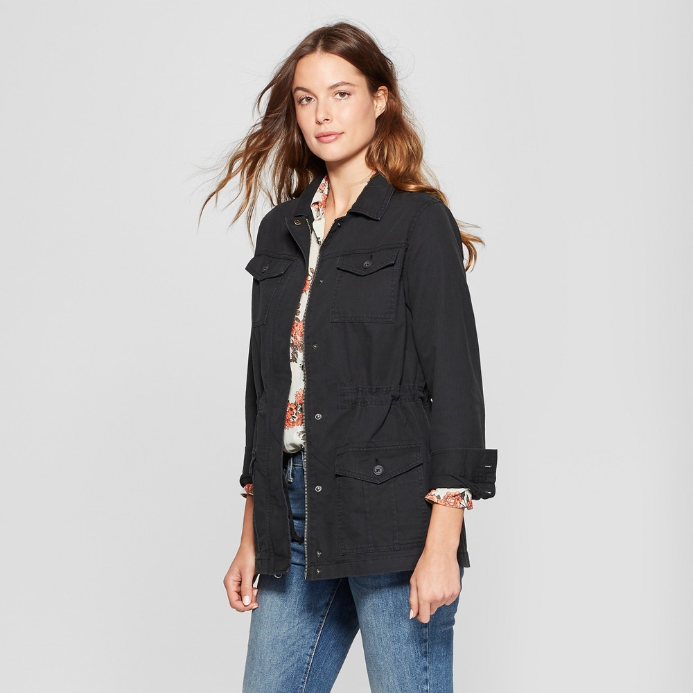Women's Military Jacket - A New Day Black XS