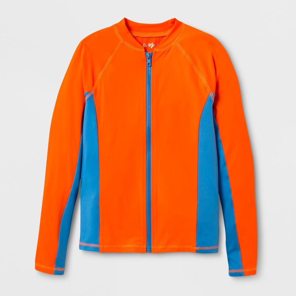 Boys' Long Sleeve Raglan Rash Guard - Cat & Jack Orange XL