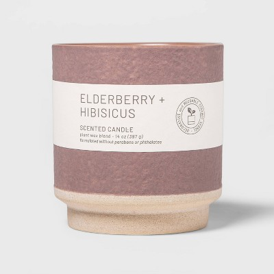 14oz Wellness Ceramic 2-Wick Elderberry and Hibiscus Candle - Project 62™