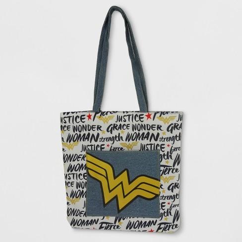 S Dc Comics Wonder Woman Tote Bag White Blue
