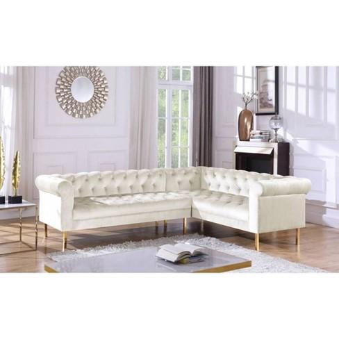 Fantastic Julian Right Facing Sectional Sofa Chic Home Uwap Interior Chair Design Uwaporg