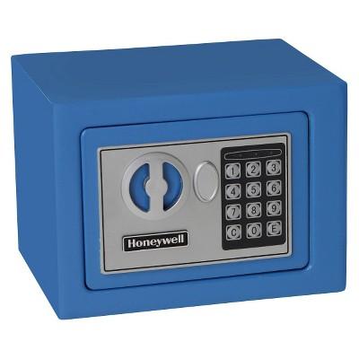 Honeywell Steel Security Safe .17 cu ft - Blue