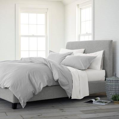 Full/Queen 3pc Comfort Wash Comforter Set Light Gray - EcoPure