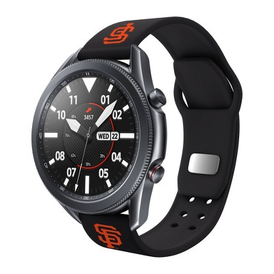 MLB San Francisco Giants Samsung Watch Compatible Silicone Sports Band - 22mm