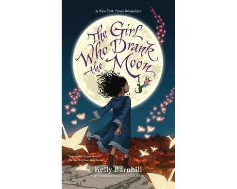 Girl Who Drank the Moon -  Large Print by Kelly Barnhill (Hardcover) - image 1 of 1