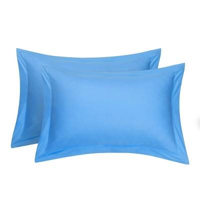 2 Pcs Standard Egyptian Cotton Pillowcase Blue - PiccoCasa