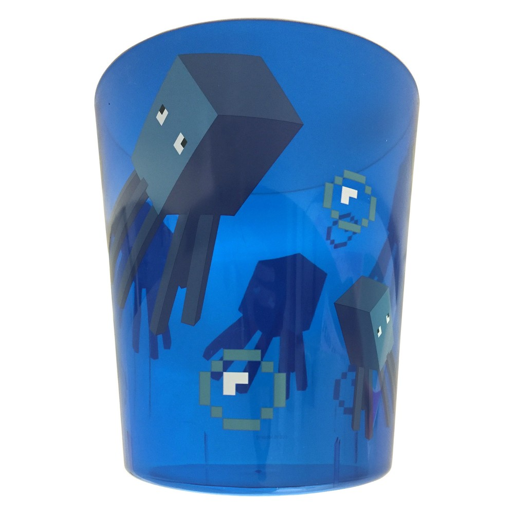 Image of Minecraft Bathroom Wastebasket Blue