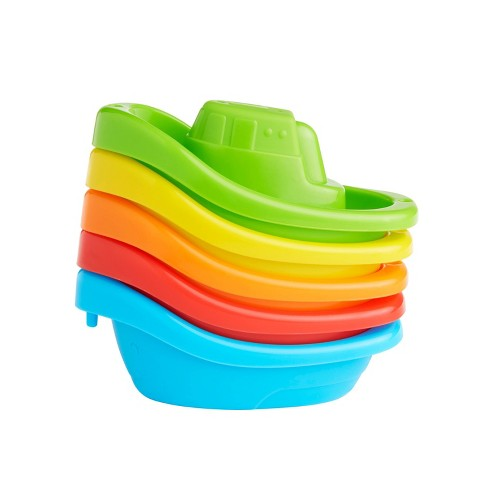 Munchkin Fleet Of Five Boats Bath Toy - image 1 of 4