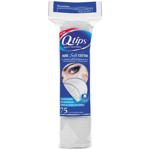 Q-tips Beauty Cotton Rounds - 75ct - image 1 of 4