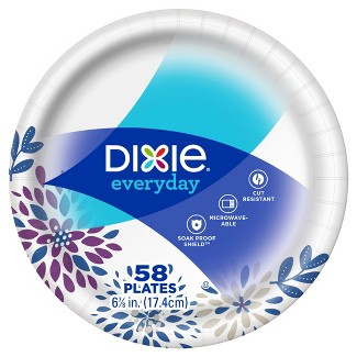 "Dixie Everyday 6 7/8"" Paper Plates - 58ct"