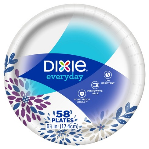 "Dixie Everyday 6 7/8"" Paper Plates - 58ct - image 1 of 4"