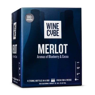 Merlot Red Wine - 3L Box - Wine Cube™