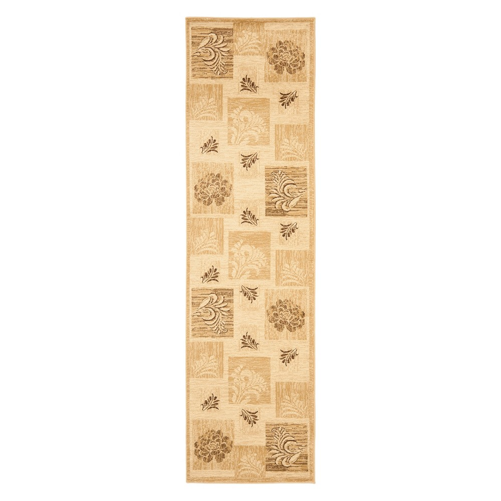 23X16 Floral Loomed Runner Ivory - Safavieh Discounts