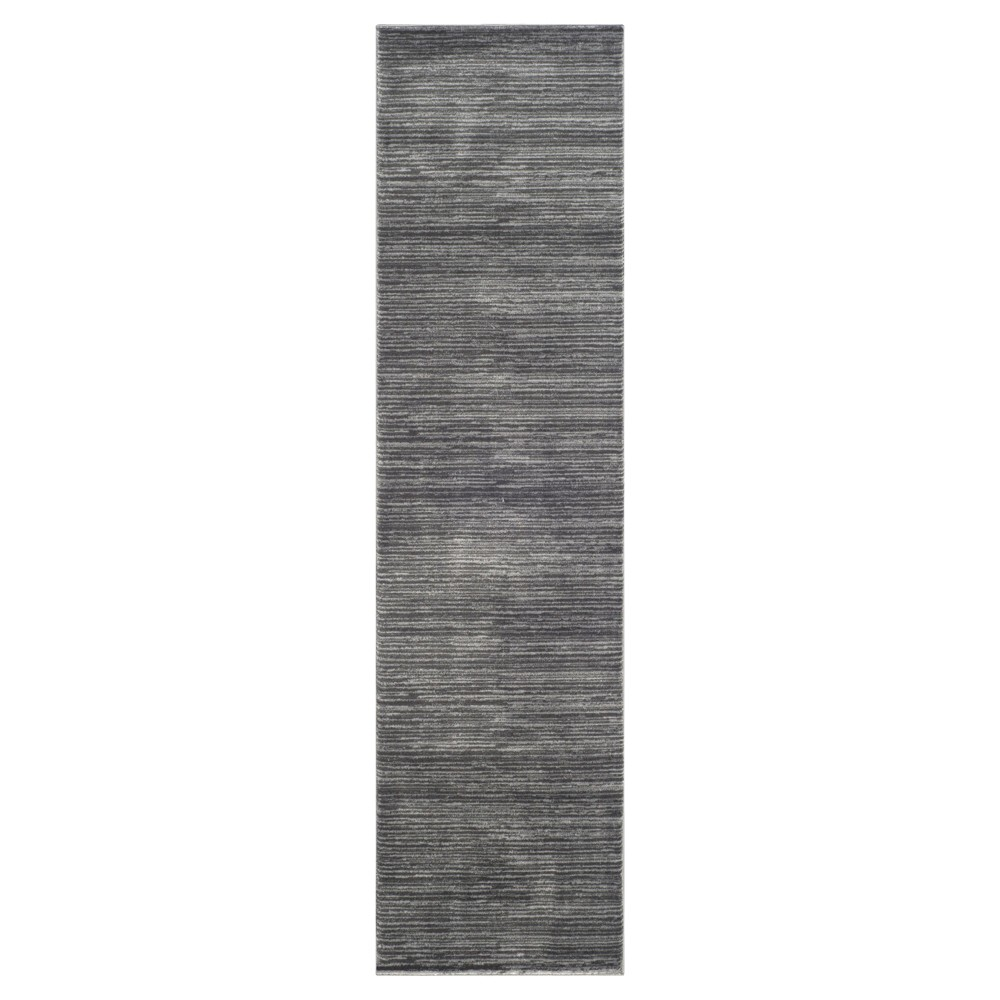 2'2X10' Loomed Runner Gray Solid - Safavieh