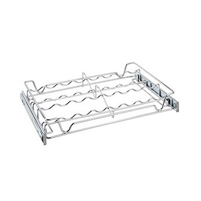 Rev-A-Shelf Sidelines 5WSCR-18CR-1 18 Inch Chrome Wire Pullout Sliding Spice Organizer Rack Shelf for 14 Inch Deep Kitchen Pantry/Bar Cabinet Closet
