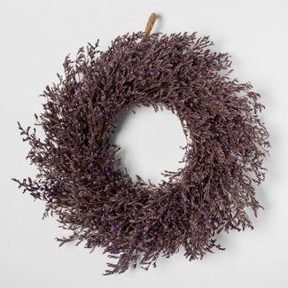 11u0022 Dried Caspia Wreath Purple - Smith & Hawken™