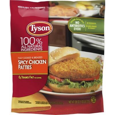 Tyson Spicy Chicken Patties - Frozen - 26oz