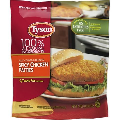Tyson Spicy Chicken Patties - Frozen - 26oz - image 1 of 4