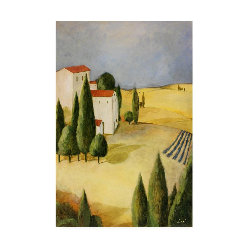 Image of 12 X 19 Pablo Esteban 'Tuscan Farm 2' Canvas Art - Trademark Fine Art