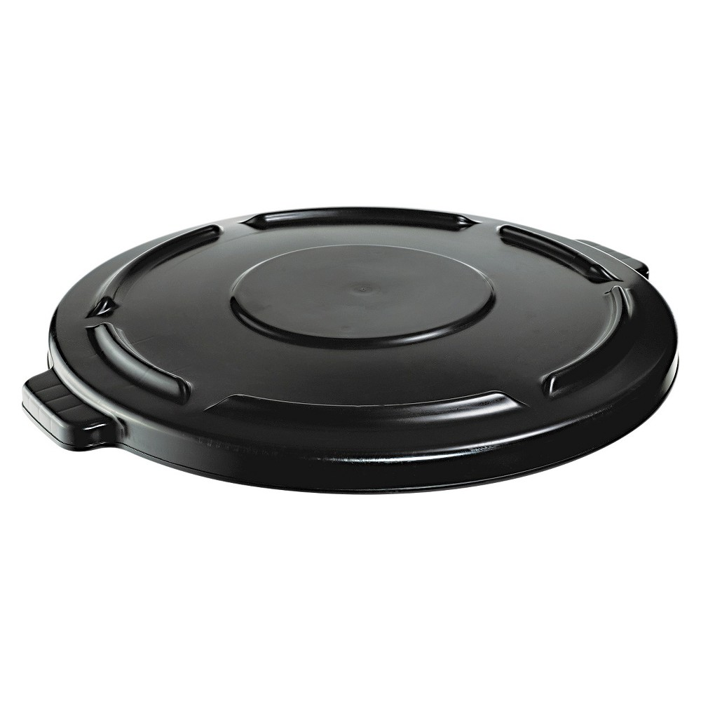 Image of Rubbermaid Trash Can Lid, Black