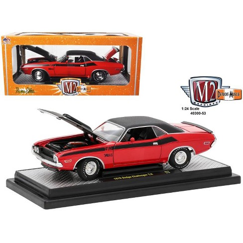 1970 Dodge Challenger T A Bright Red With Flat Blac Target
