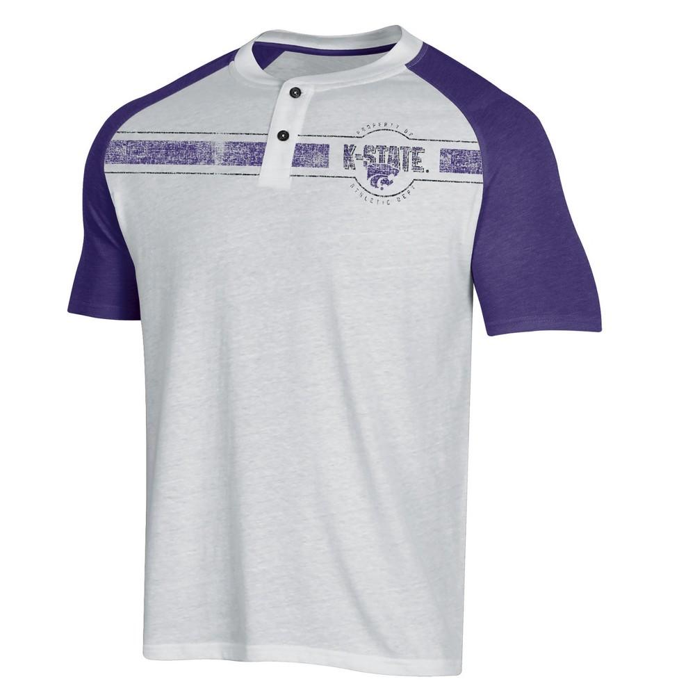 NCAA Men's Raglan Henley T-Shirt Kansas State Wildcats - M, Multicolored