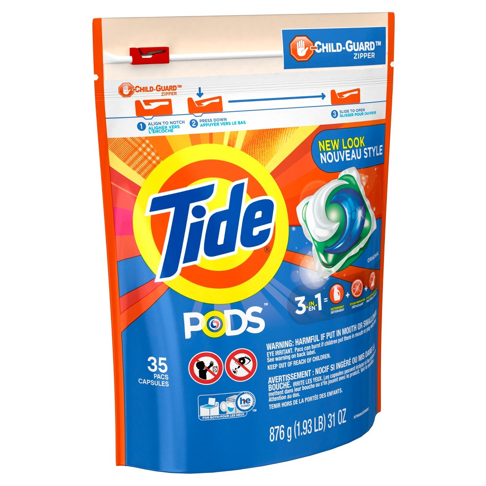 Tide Pods Original Scent Liquid Laundry Detergent Pods - 35ct