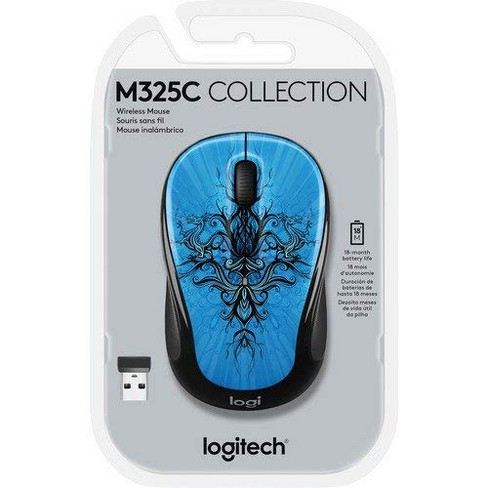 Logitech M325 Mouse - Optical - Wireless - Radio Frequency - USB - 1000 dpi - Tilt Wheel - 5 Button(s) - image 1 of 1